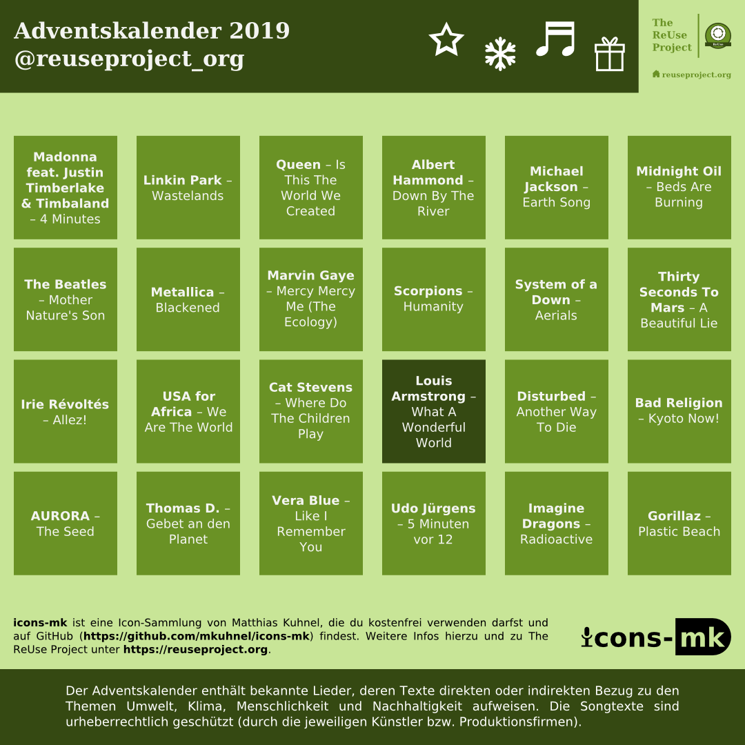 Adventskalender-Grafik vom 24.12.2019